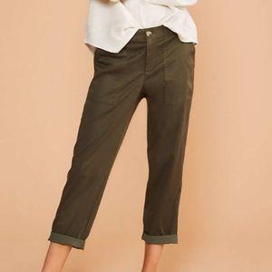 Lou & Grey Cosmic Skinny Pants, Olive; like new!